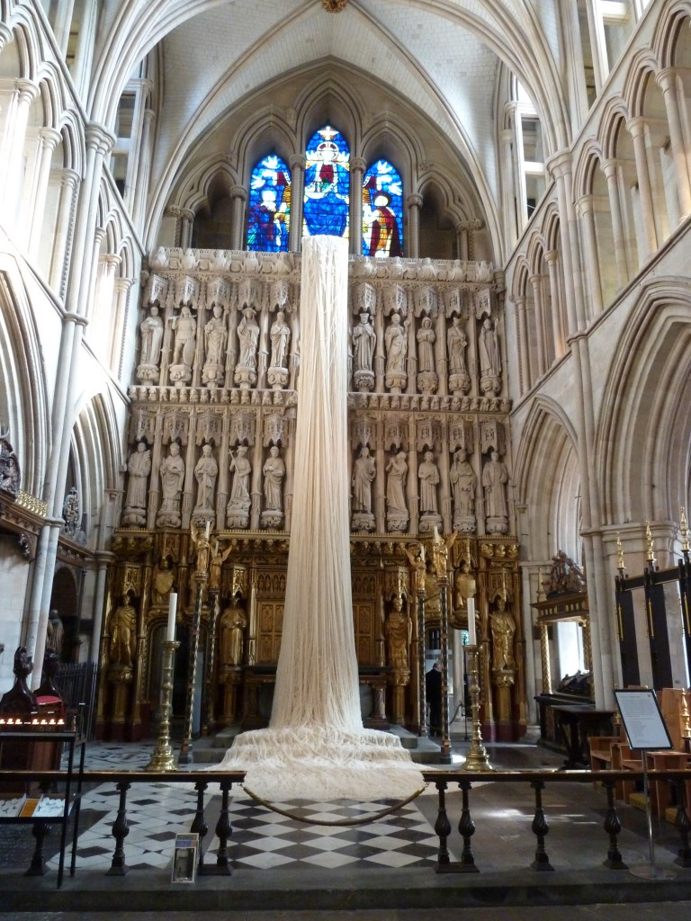 40 Days by Angela Wright - the lent installation at Southwark Cathedral