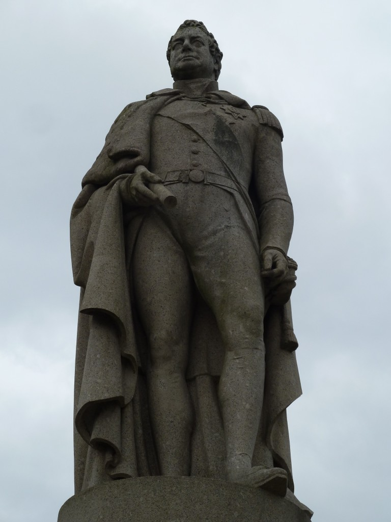King William IV statue just off King William Walk in Greenwich
