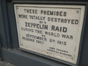 Zeppelin Damage Farringdon Road