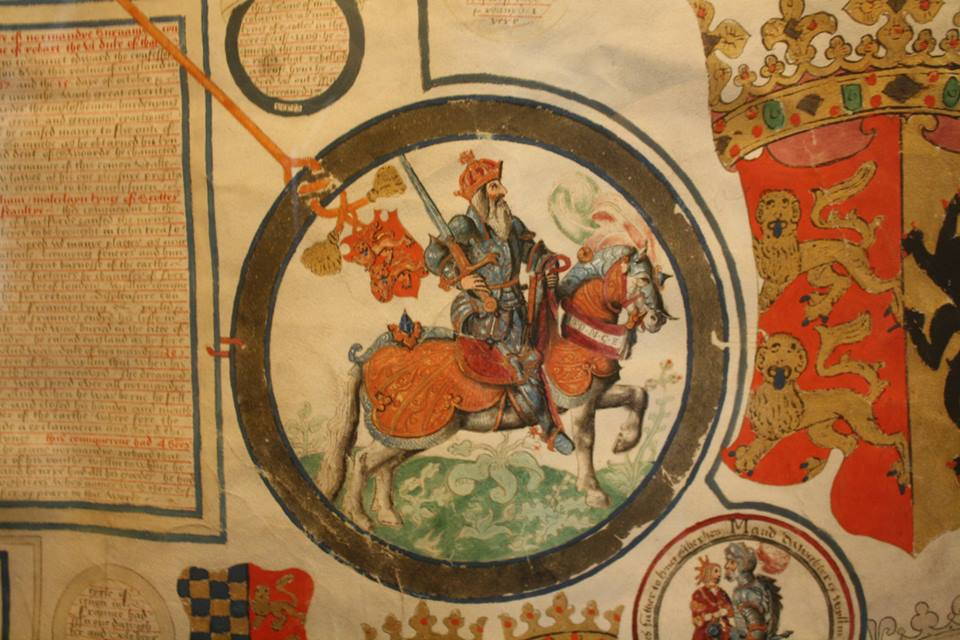 William I depicted in an Elizabethan scroll in Hatfield House
