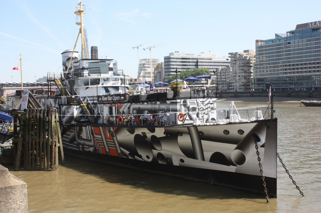 HMS President in Dazzle camoflauge