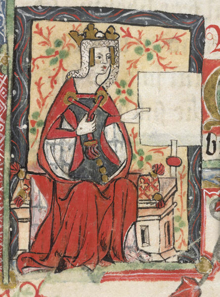 "Portrait of Empress Mathilda, from ""History of England"" by St. Albans monks (15th century); Cotton Nero D. VII, f.7, British Library"