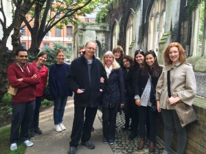 Tina's T S Eliot walk at St Dunstan in the East