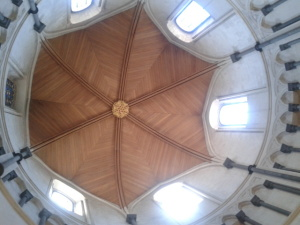 The restored ceiling of the round part of Temple Church