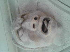 carved corbel from Temple Church