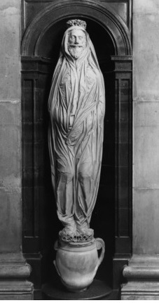 statue of john donne in st pauls cathedral