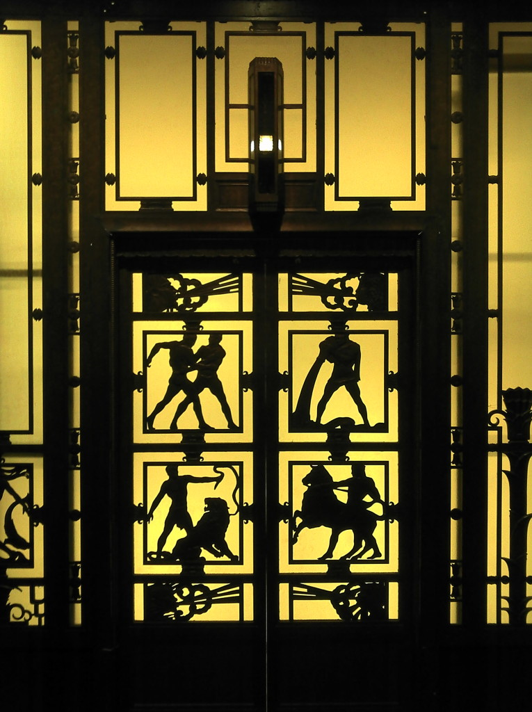Selfridges lift door Museum of London