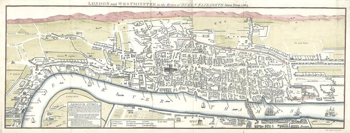 Map Of England Henry Viii.The Real London Of Wolf Hall Footprints Of London