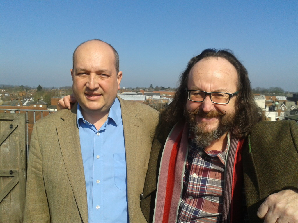 Rob and Dave at the top of the Clock Tower in St Albans