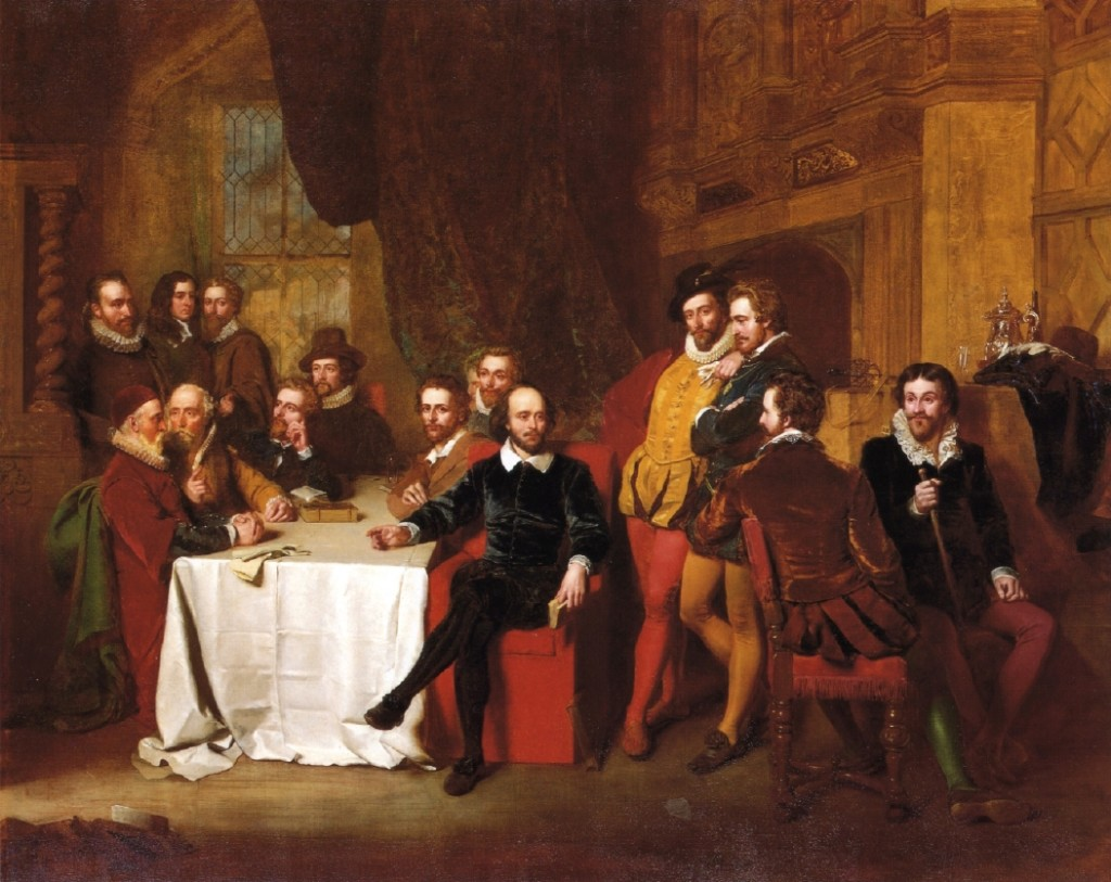 Shakespeare and his Friends at the Mermaid Tavern (1851) John Faed