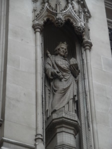 Statue of Henry III at Kings College Library