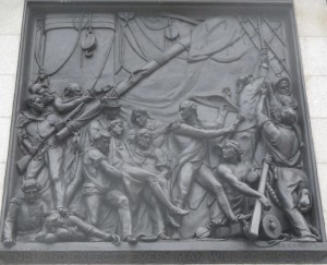 Death of Nelson bas relief 1