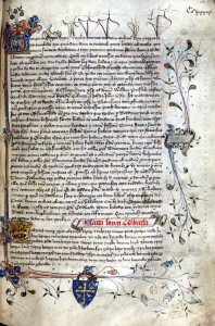 Aldgate Cartulary folio 149r - http://special.lib.gla.ac.uk/images/chaucer/H215_0149rwf.jpg
