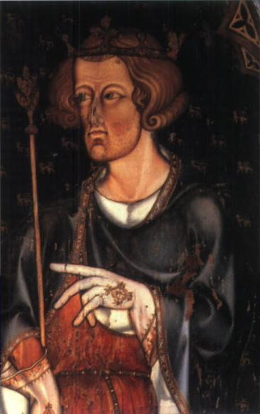 Portrait believed to be Edward I in Westminster Abbey, painted between 1272-1307