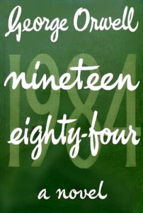 Cover, Nineteen Eighty-Four First UK Edition – Wikimedia Commons